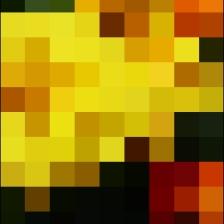 Efecto mosaico alta saturación Xperia