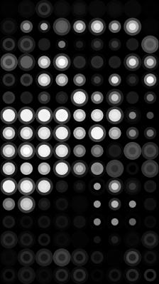Efecto mosaico puntos mucha saturación Xperia.