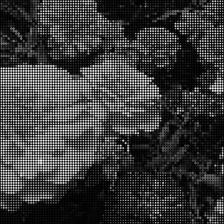 Efecto mosaico puntos poca saturación.